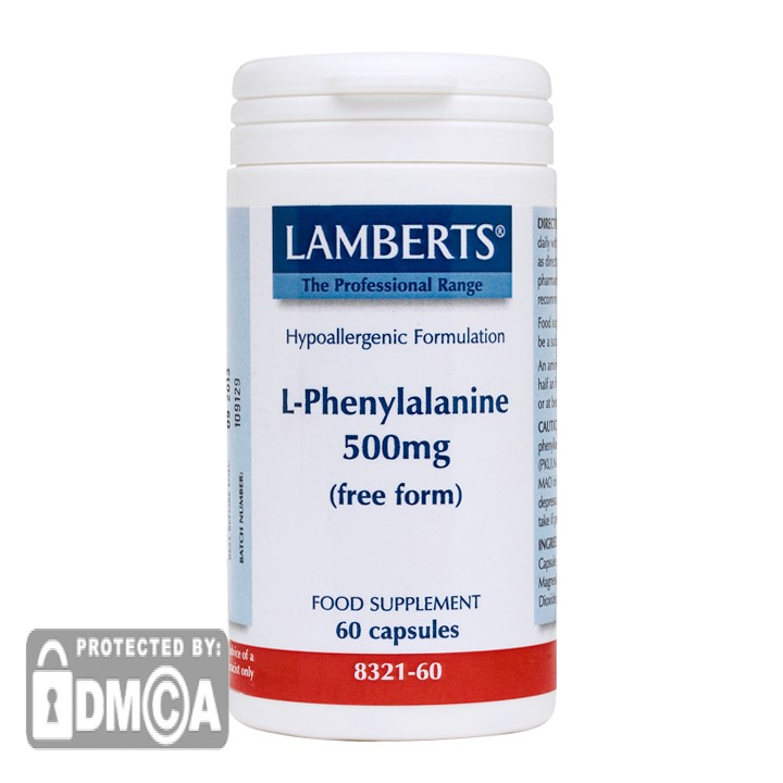Lamberts® L-Phenylalanine 500mg (60 Capsules)