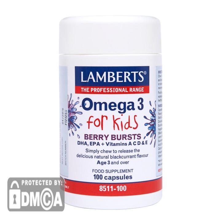 Lamberts® Berry Bursts Omega 3 for Kids (100 Capsules)