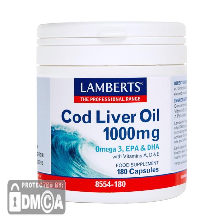 Lamberts ® Cod Liver Oil 1000mg (180 Capsules)