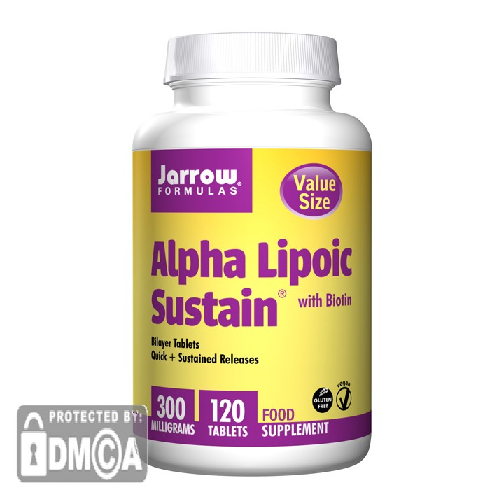 Jarrow Formulas Alpha Lipoic Sustain 300mg-120 Tablets