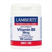 Lamberts® Vitamin B6 50mg (100 Tablets)