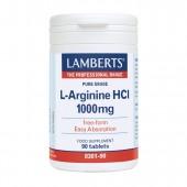 Lamberts® L-Arginine HCI 1000mg (90 Tablets)