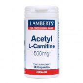 Lamberts® Acetyl L-Carnitine 500mg (60 Capsules)