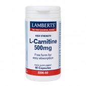 Lamberts® L-Carnitne 500mg (60 Capsules)