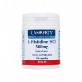 Lamberts® L-Histidine HCl 500mg (30 Capsules)
