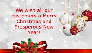 happy xmas customers